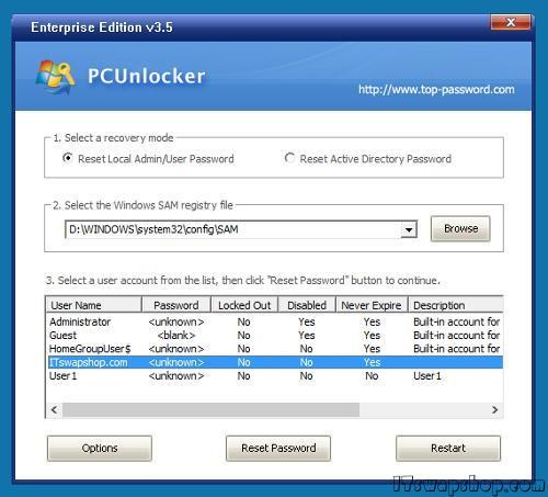 How to Easily Reset Windows Passwords with PCUnlocker or Password Recovery Bundle 3