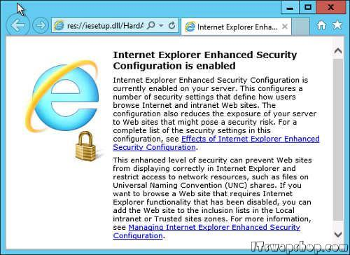 How to Disable or Remove Internet Explorer Enhanced Security Configuration in Windows Server 2012 1