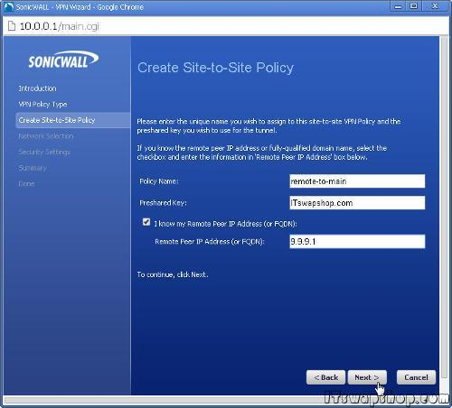 SonicWall-VPN-Tutorial-Site-to-Site-Configure-11