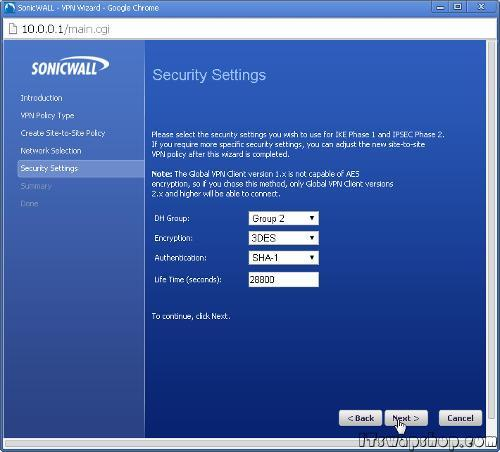 SonicWall-VPN-Tutorial-Site-to-Site-Configure-14
