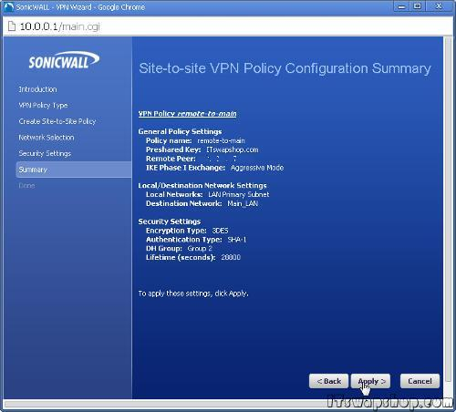 SonicWall_Site_to_Site_VPN_tutorial
