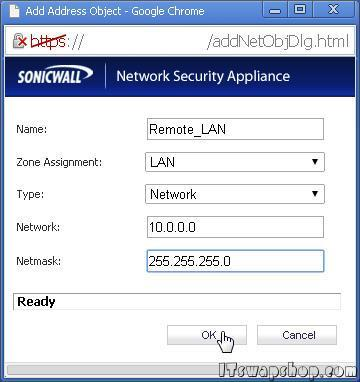 How to Configure Site-to-Site VPN on SonicWall Enhanced with Static IPs 5