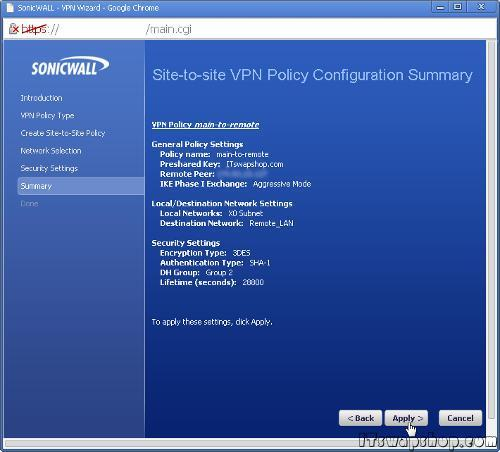 How to Configure Site-to-Site VPN on SonicWall Enhanced with Static IPs 8