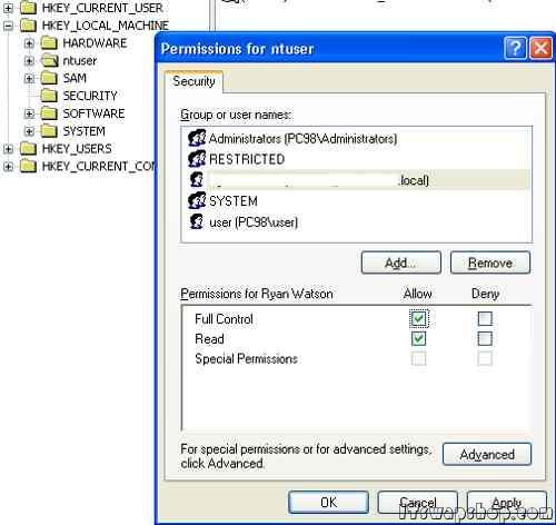 how to find user profile in registry windows 7