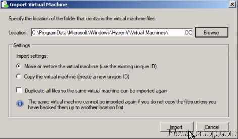 Manually Migrate Virtual Machines From One Hyper-V Host to